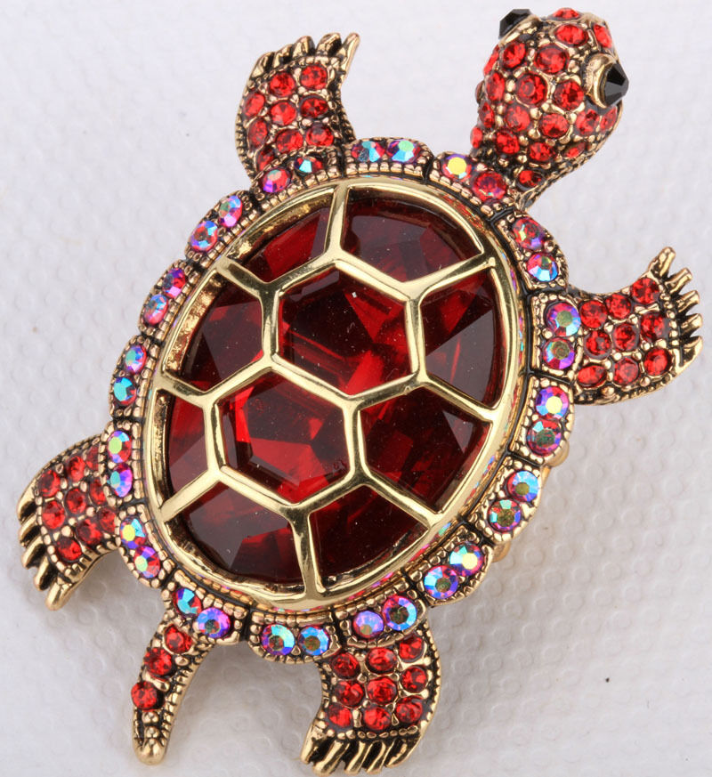 Big Turtle Stretch Ring Animal Bling Scarf Jewelry Gifts