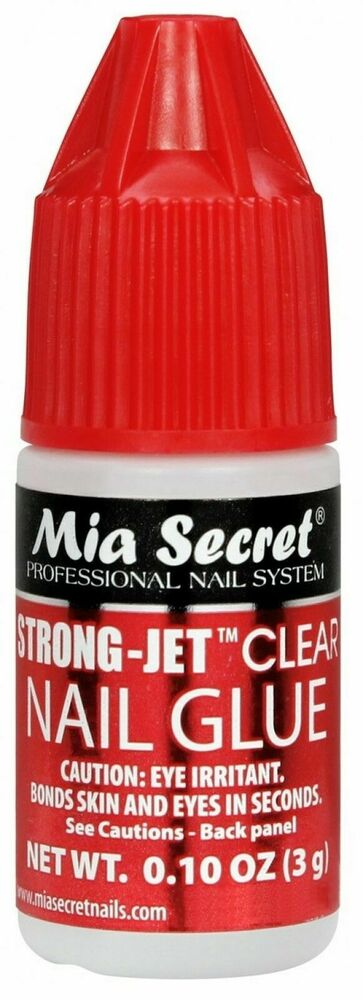 3pcs mia secret strong jet clear nail glue calcium vitamin e acrylic art 0 1 oz ebay. Black Bedroom Furniture Sets. Home Design Ideas
