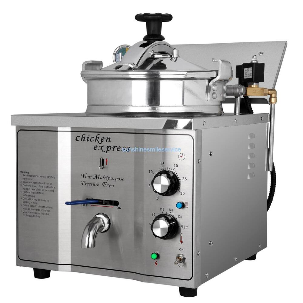 Electric Pressure Fryer ~ L stainless steel commercial electric pressure fryer