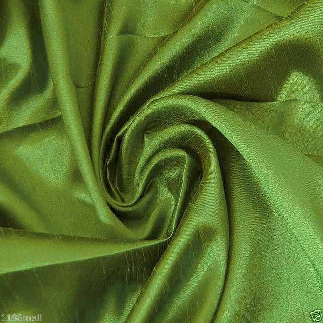 Willow Green Faux Silk Taffeta Fabric For Dress Clothing