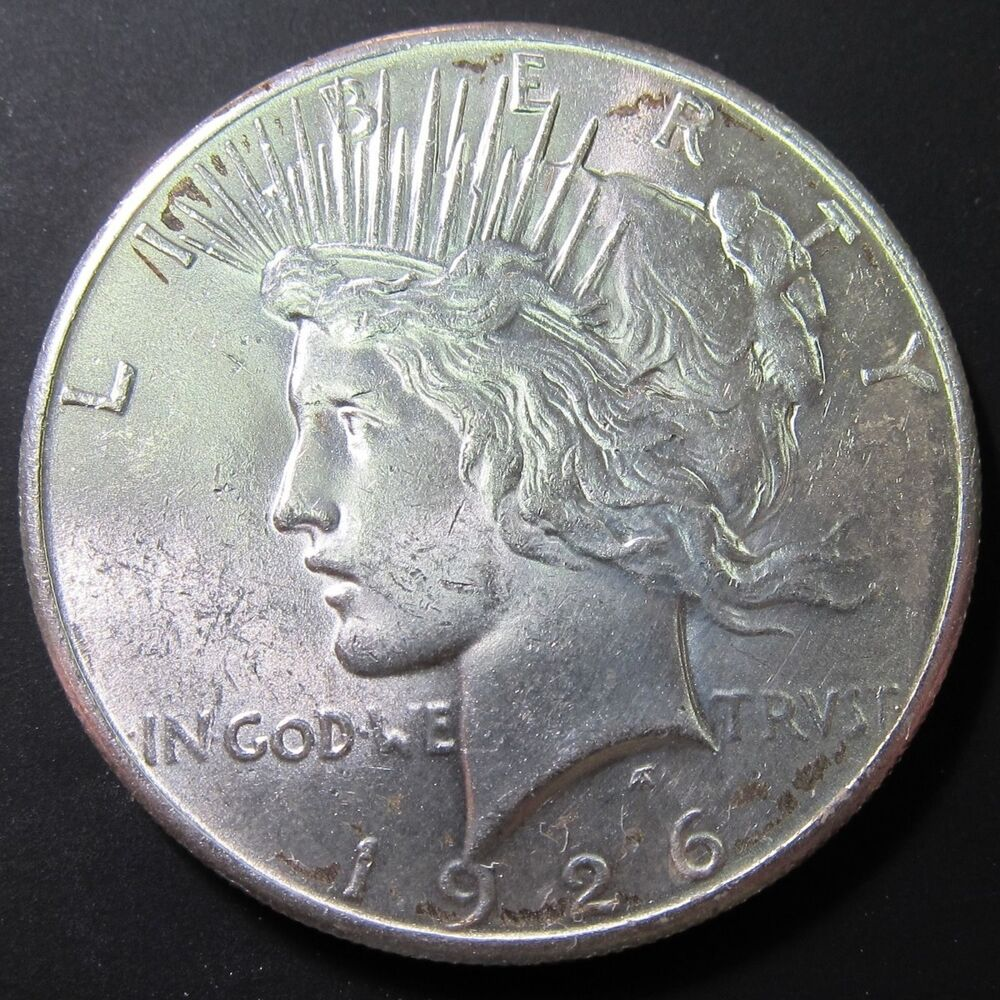 1926 P Peace Silver Dollar Choice Bu Unc Coin Nice