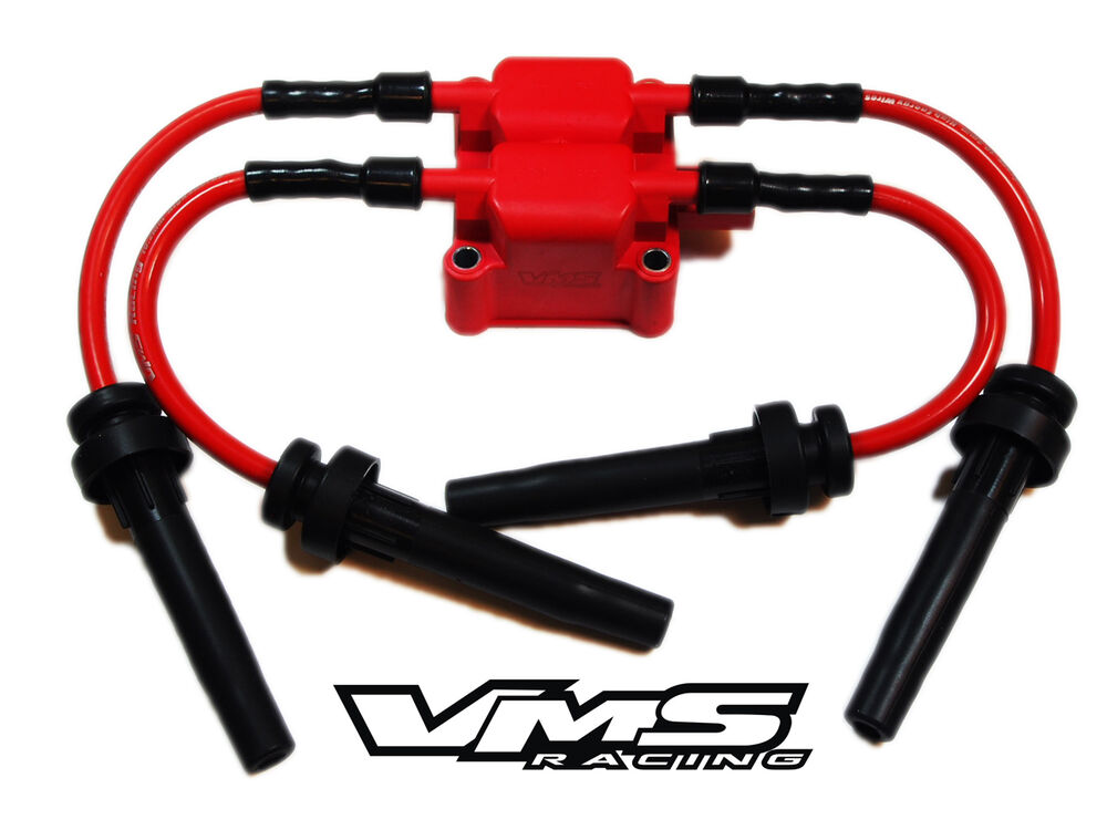 Vms Racing Replacement Ignition Coil 10mm Spark Plug Wires