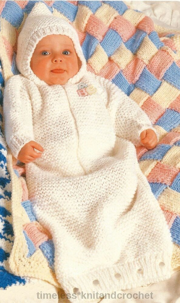 Knitting Pattern Sleeping Bag Baby : VINTAGE KNITTING PATTERN FOR BABYS / BABIES SLEEPING BAG ...
