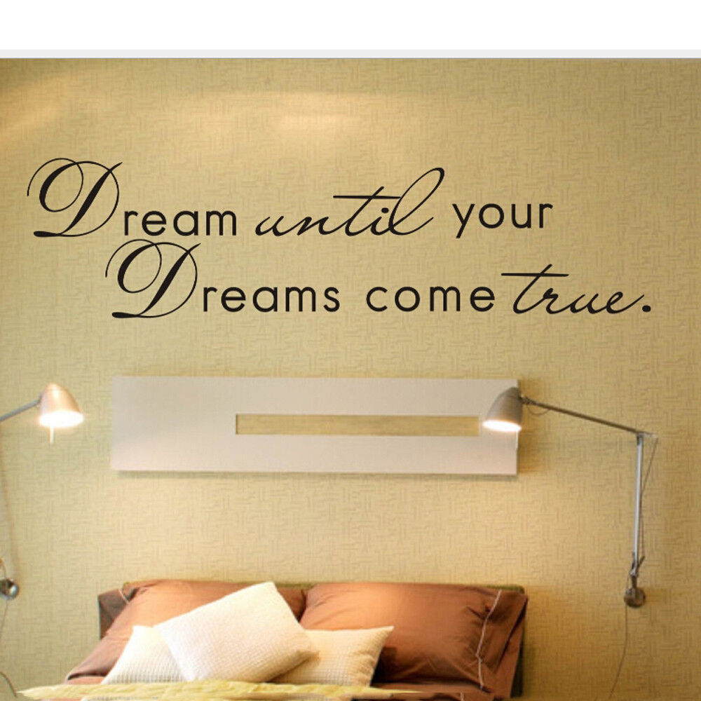Dream Come Ture Home Decor Wall Decals Stickers Quote DIY