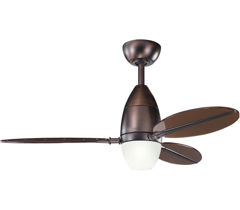 Oil Brushed Bronze 44 Ceiling Fan With Light And Remote