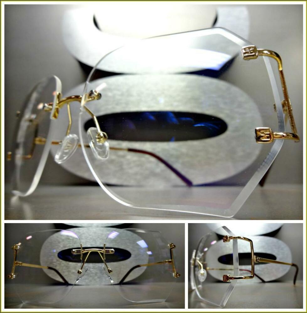 OVERSIZE CLASSIC VINTAGE RETRO Style Clear Lens EYE ...