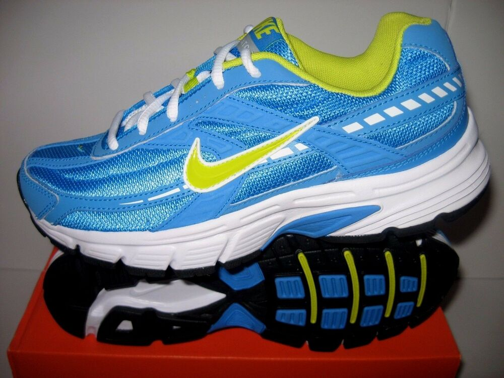 NIB NIKE Womens Initiator Blue/Lime Athletic Shoe Sizes 6 ...