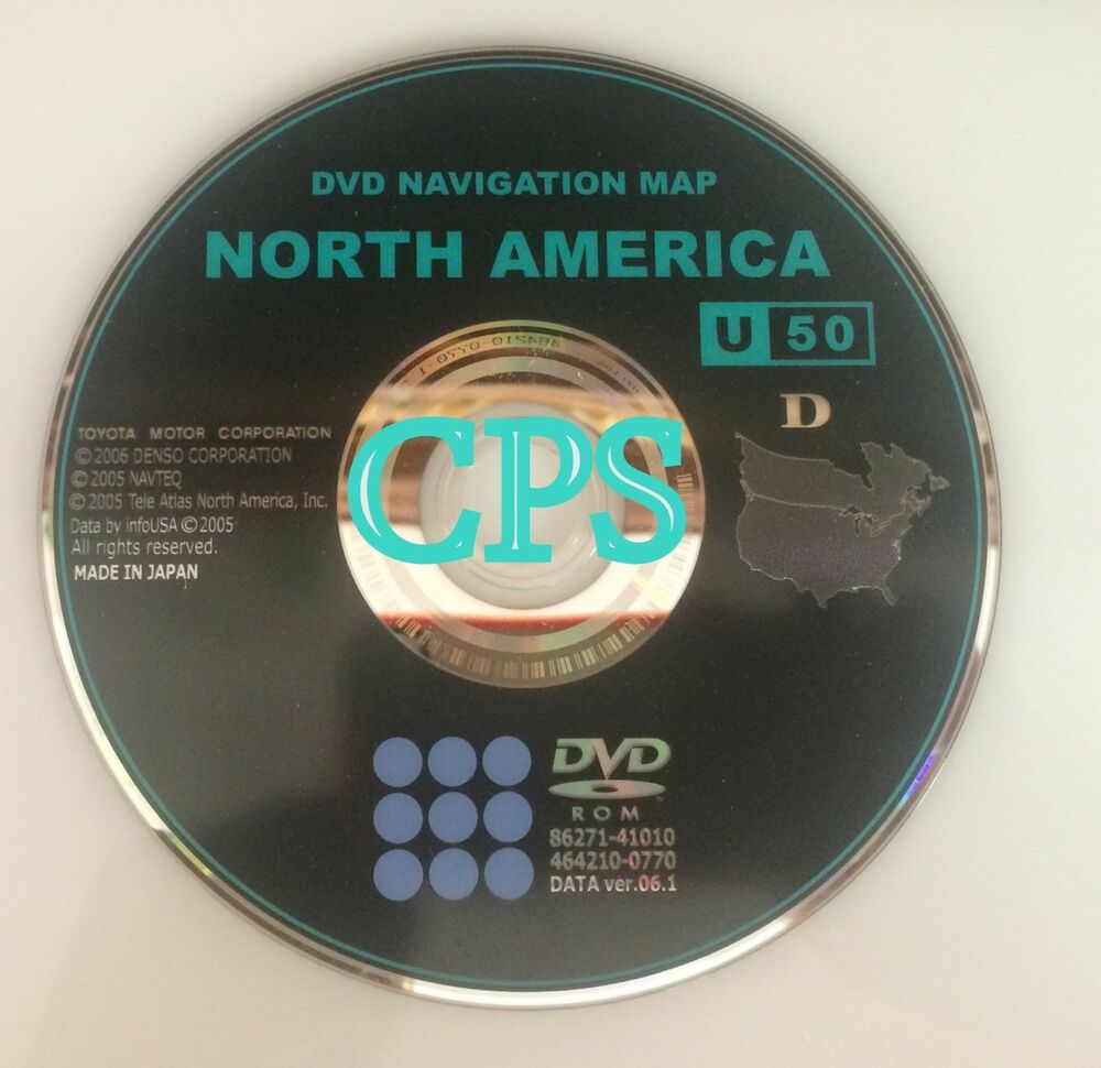 2007 2008 2009 Avalon XLS Navigation DVD Map Disc U50
