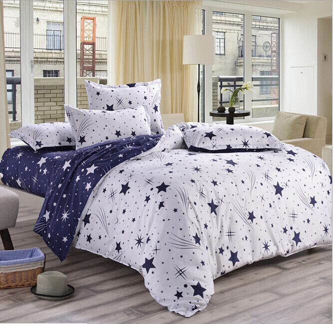 star duvet quilt cover with pillow case bedding set twin full queen king size a ebay. Black Bedroom Furniture Sets. Home Design Ideas