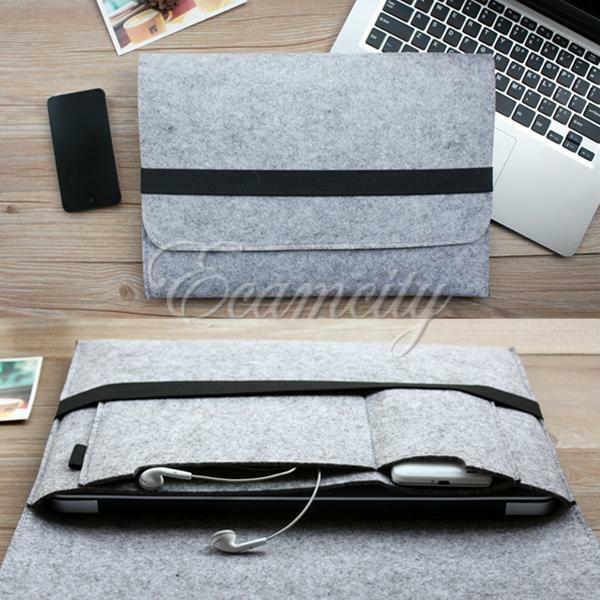 Wool felt sleeve case cover for 13 laptop macbook air for Housse macbook air 13