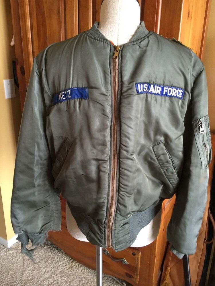 RARE! 5/1967 Vietnam USAF MA-1 FLIGHT JACKET US Air Force Mil