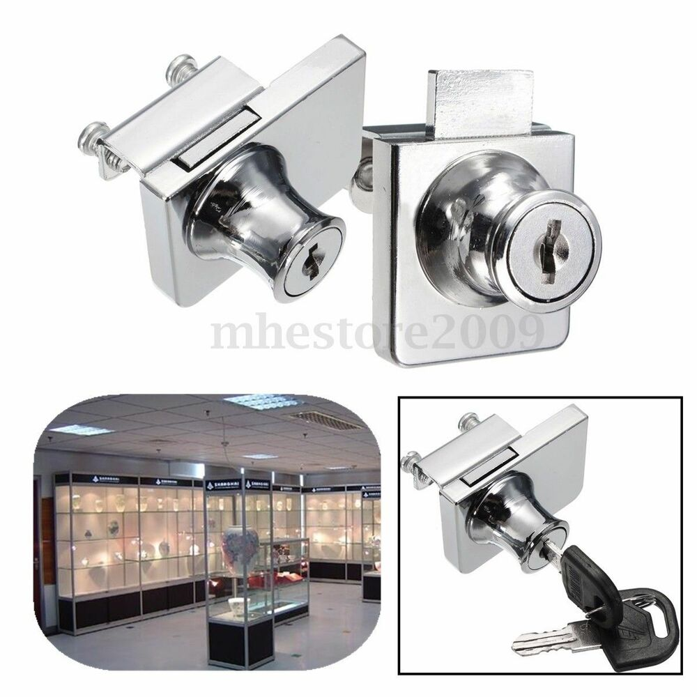 Single double glass cabinet door lock cam key showcase for Cam lock kitchen cabinets