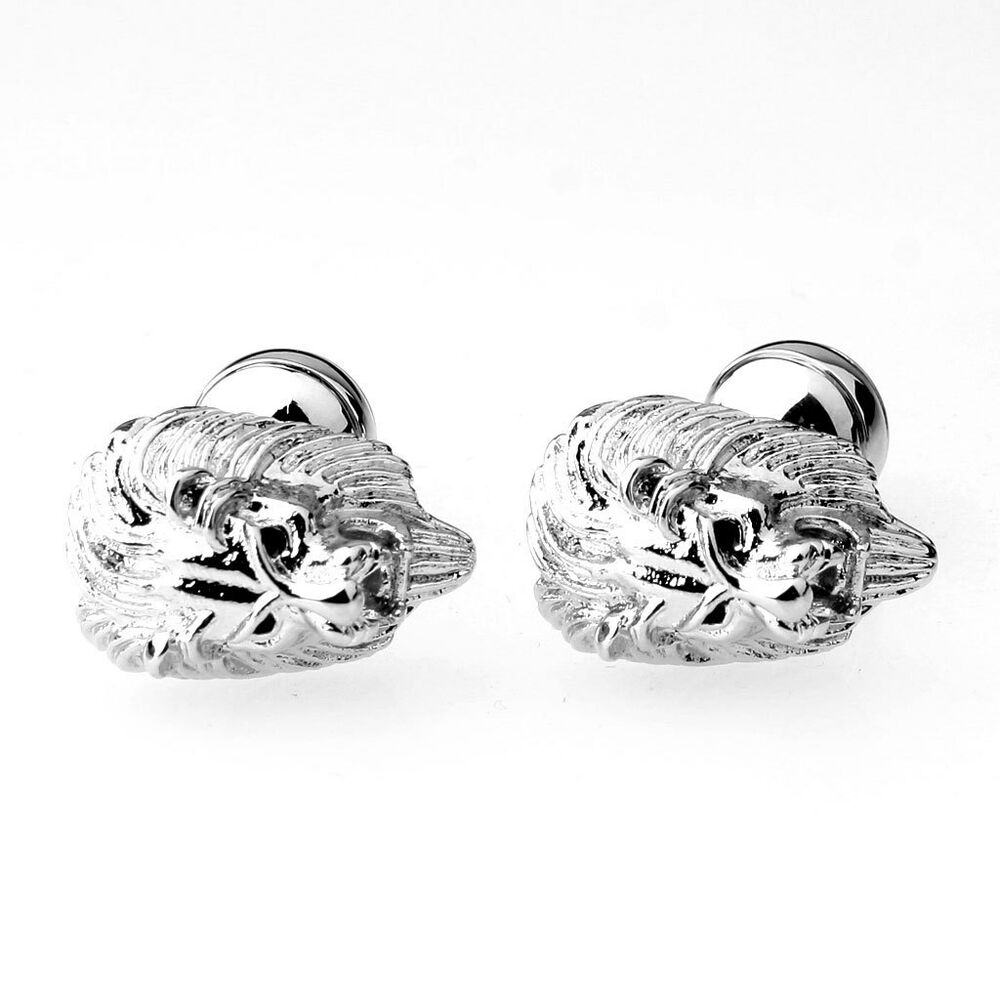 Mens Wedding Party Gifts: Men's Cool Lion Head Wedding Party Gift Mens Cufflinks