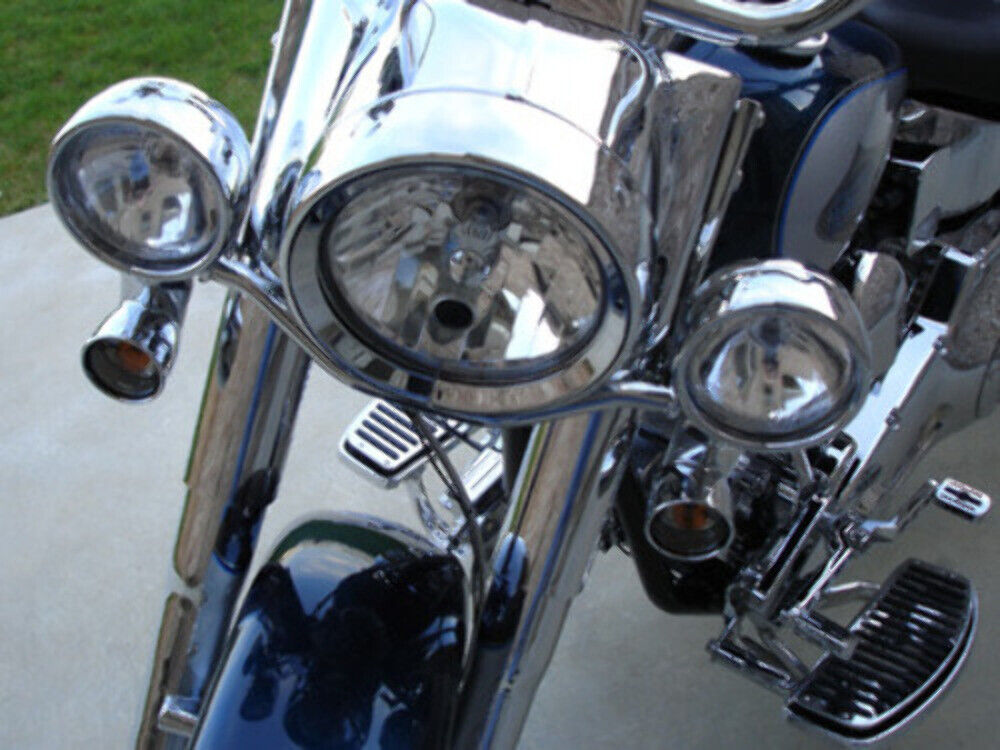 For Harley 86 Up Heritage Softail Deluxe Spotlight Passing