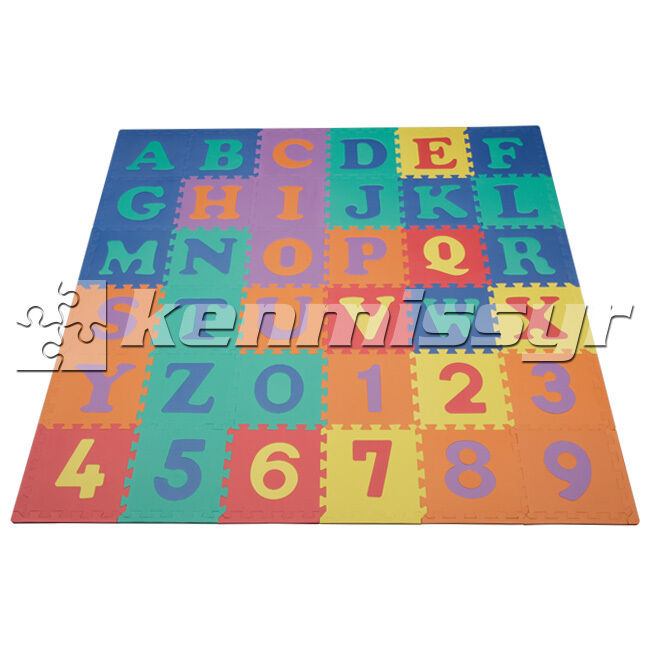 36 Sq Ft Uppercase Abc 123 Interlocking Kids Foam Puzzle
