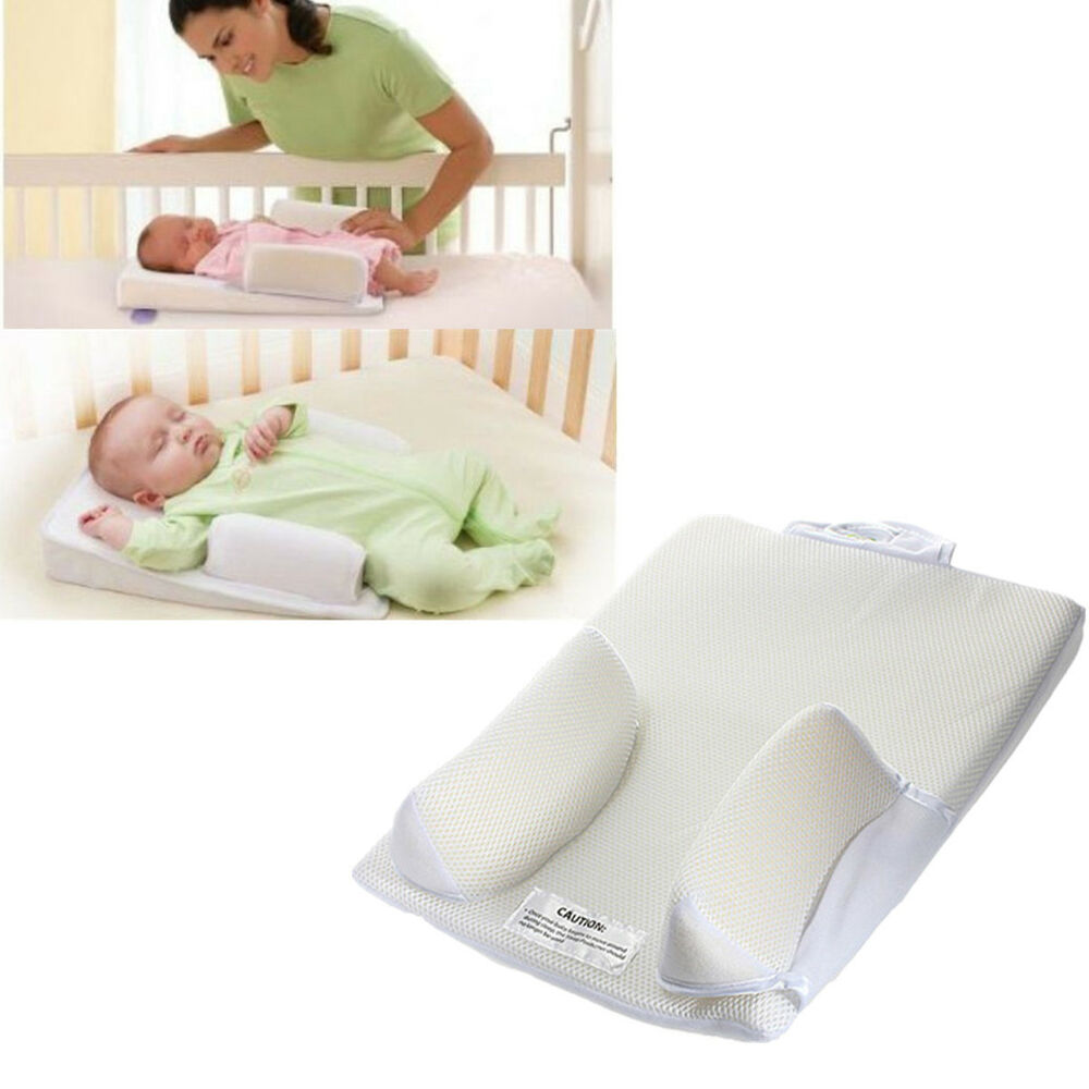 Baby Newborn Anti Roll Pillow Sleep Positioner Prevent ...
