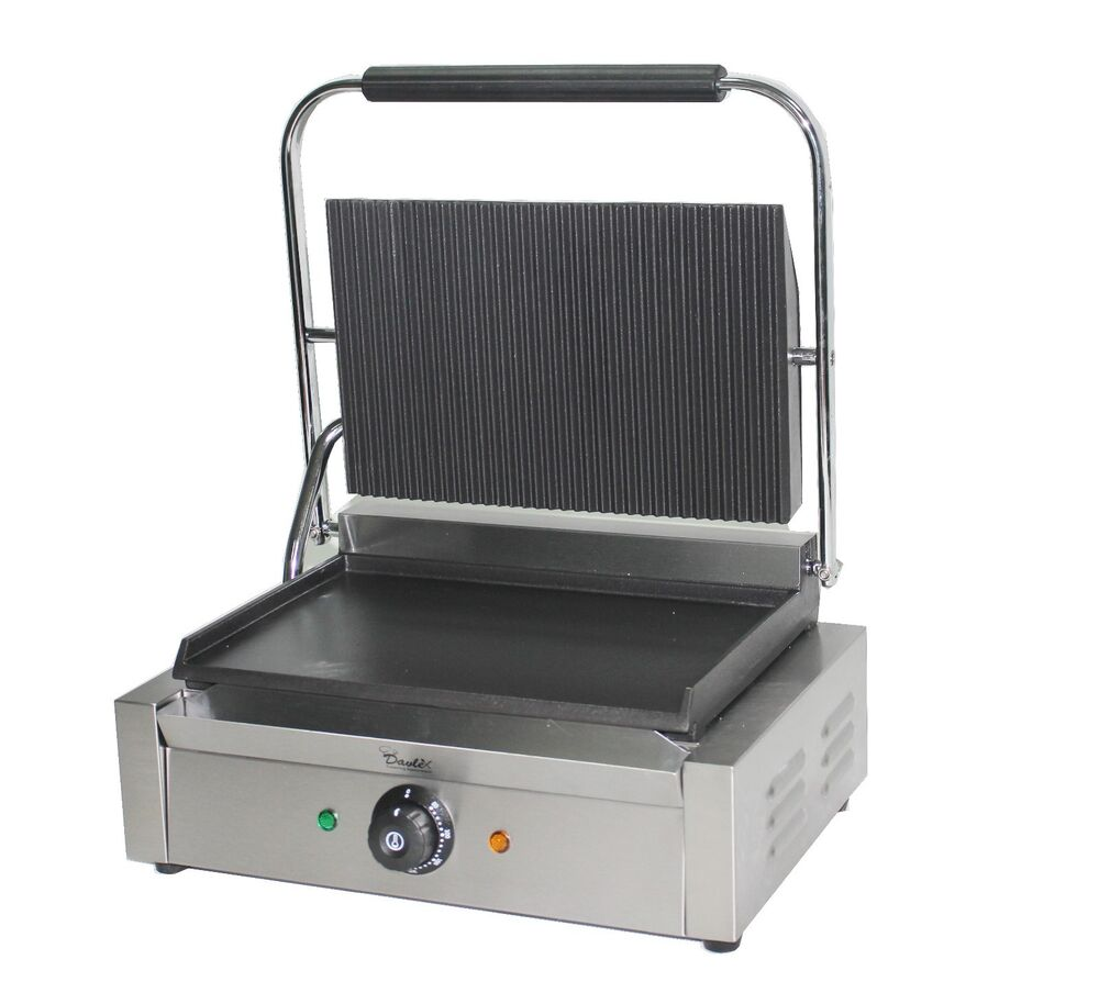 Large Panini Press Toaster Electric Sandwich Maker Commercial Machine Grill Ebay