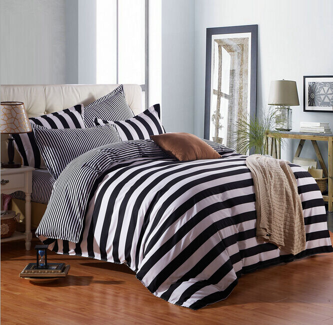 White And Black Bedding Duvet Cover Quilt Cover Set Twin ...
