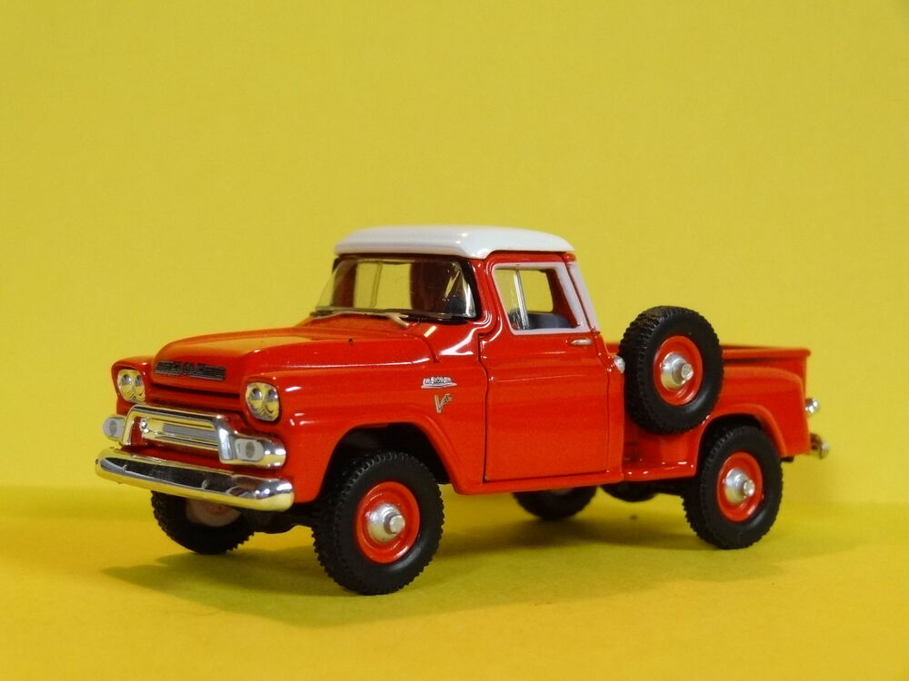 1959 gmc step side pickup truck red 1 64 scale limited edition real rubber p ebay. Black Bedroom Furniture Sets. Home Design Ideas