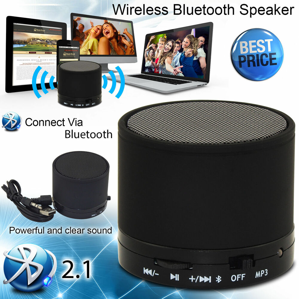 NEW WIRELESS BLUETOOTH MINI PORTABLE SPEAKER MIC FOR IPHONE HTC SAMSUNG SONY UK