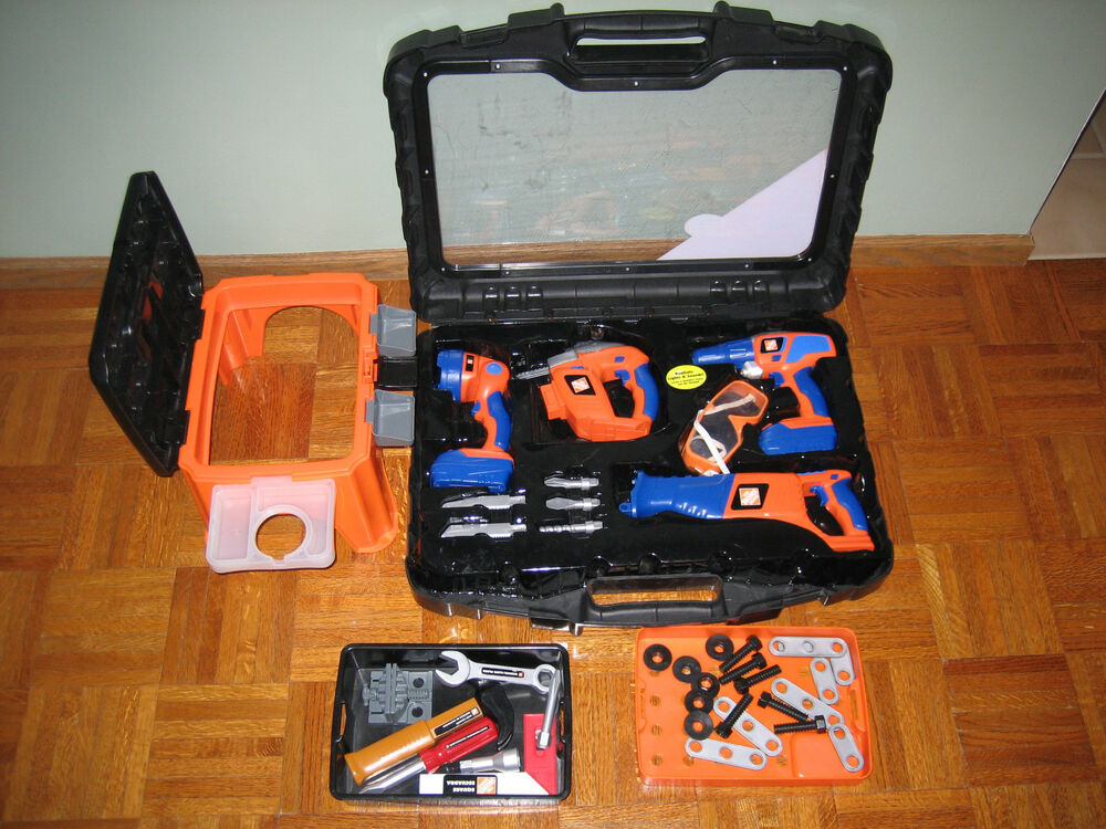The Home Depot Deluxe Power Tool Set 100 Plus Step Stool