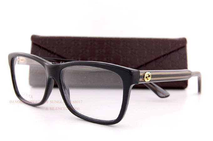e1ab1f2626 Brand New GUCCI Eyeglass Frames 3765 GX3 Black For Men Women 100% Authentic