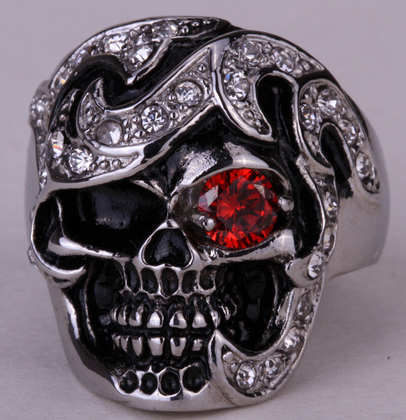 White Gold Gothic Rings