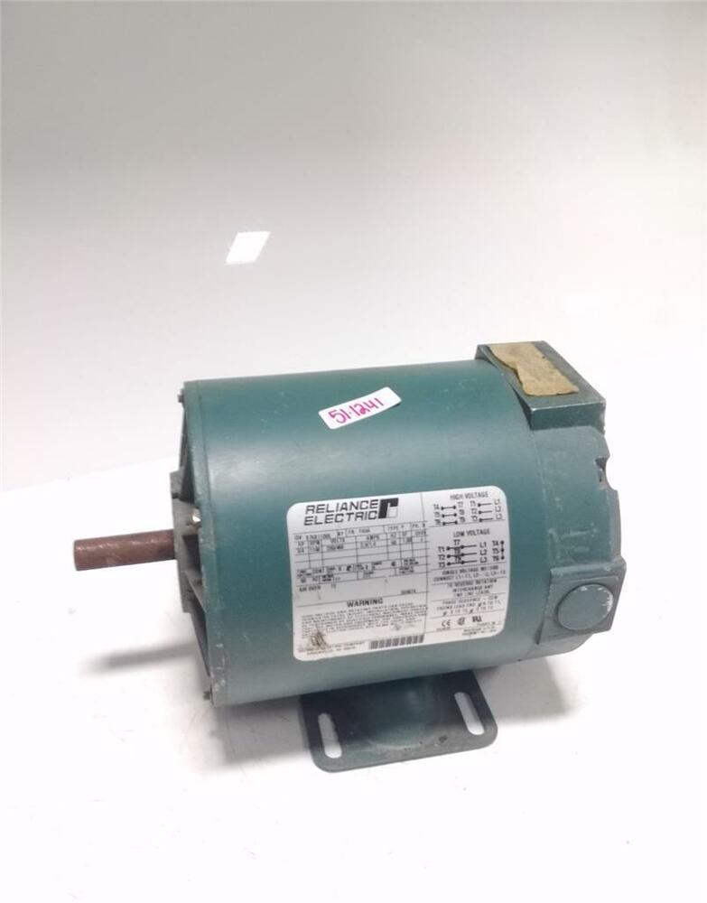 Reliance electric 3 4 hp 1140 rpm 230 460 volts electric for 4 horsepower dc motor
