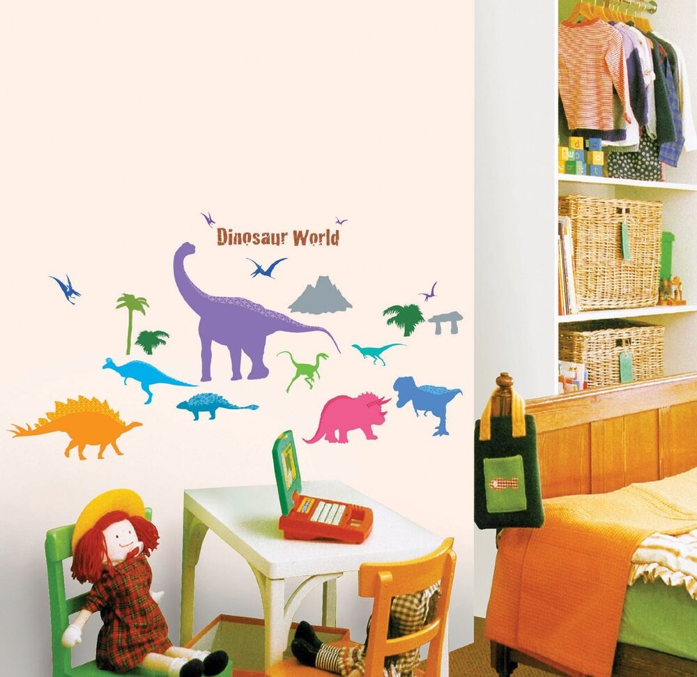 Dinosaur park wall decal dinosaurs room stickers boys for Decor mural a tapisser