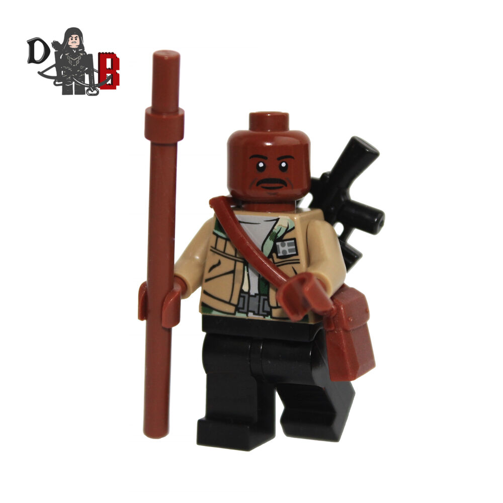 Walking dead lego daryl the walking - The Walking Dead Morgan Jones Minifigure Made Using Lego Custom Parts