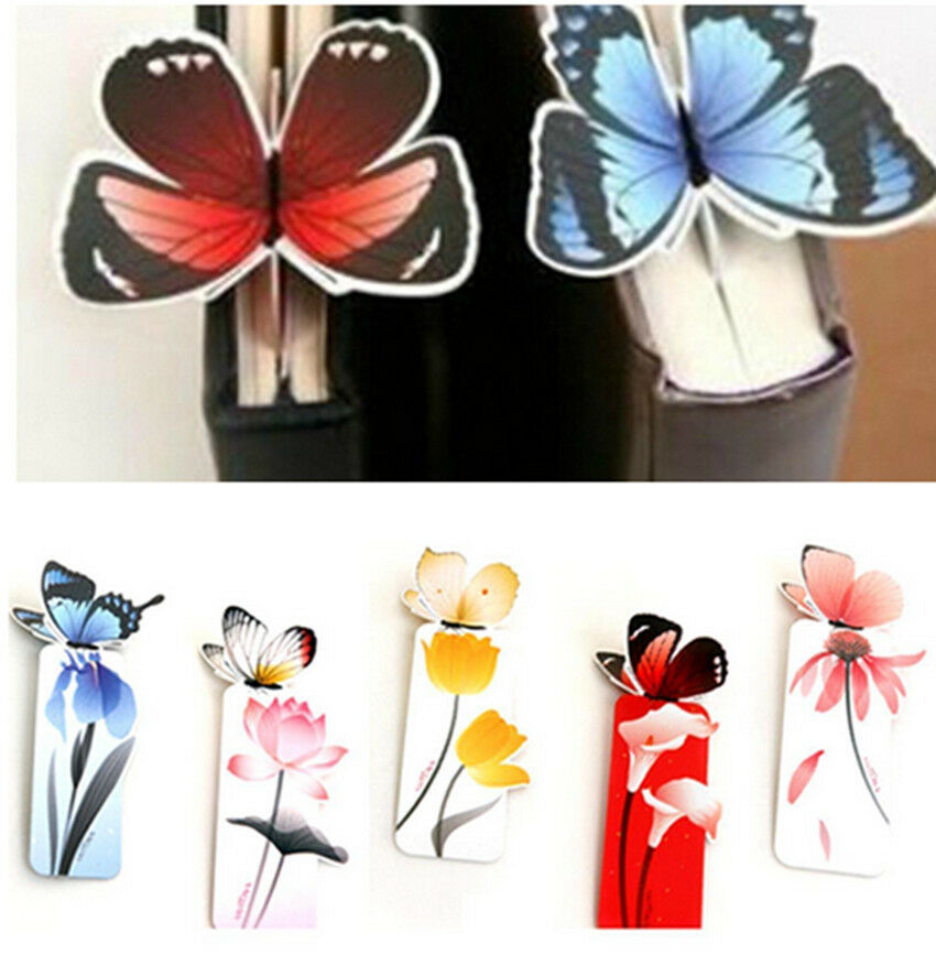 4X  Bookmark butterfly Style Teacher's Gift Book Marker Stationery MJ
