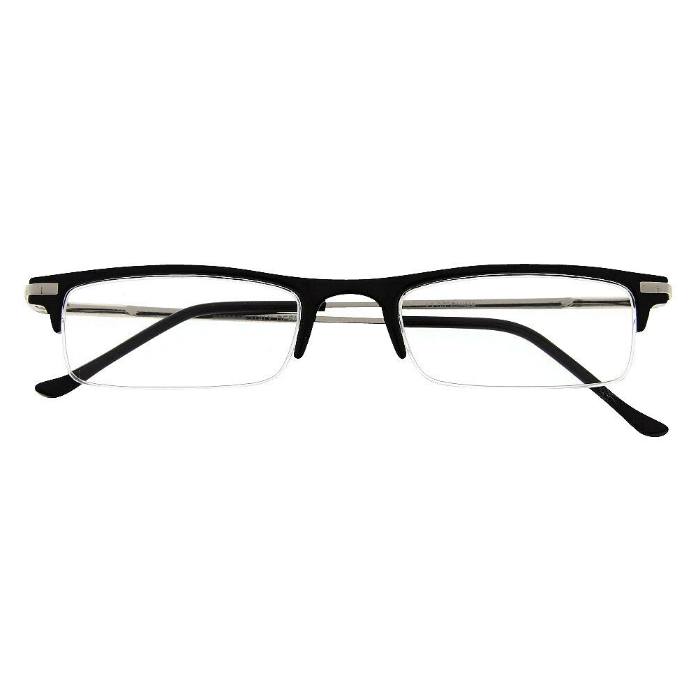 Rimless Glasses Durability : Reading Glasses Rimless Half Low Profile Clear Lens Power ...