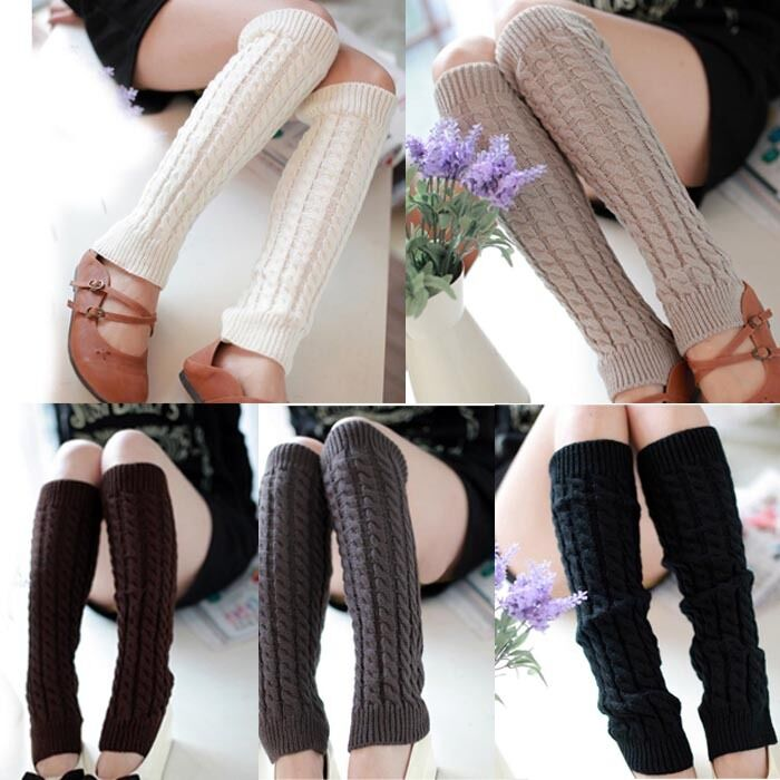 Fashion New Women Lasies Winter Warm Leg Warmers Knitted ...