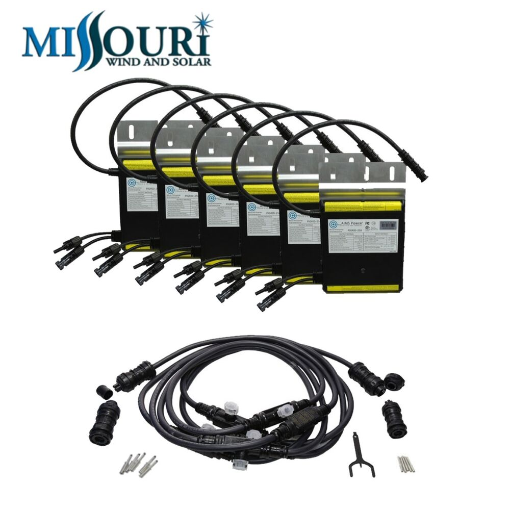 250 Watt Micro Grid Tie Inverter Package With Cable For