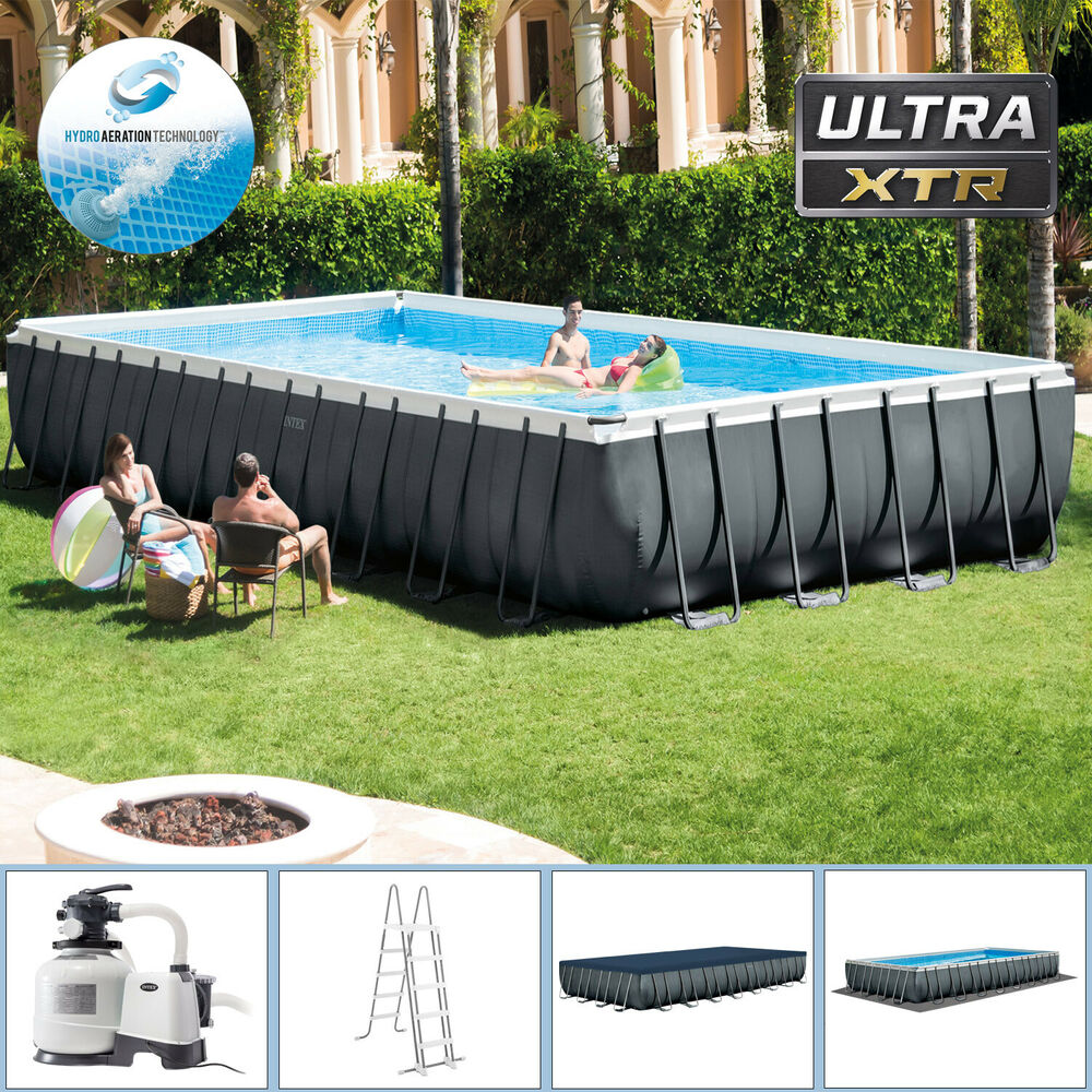 Intex 975 x 488 x 132cm swimming pool rechteck stahlwand for Stahlwand schwimmbad