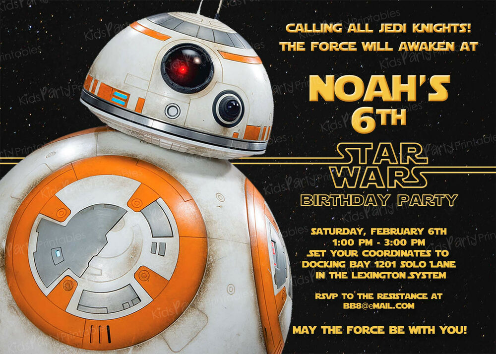 20 BB8 Star Wars The Force Awakens Birthday Party ...