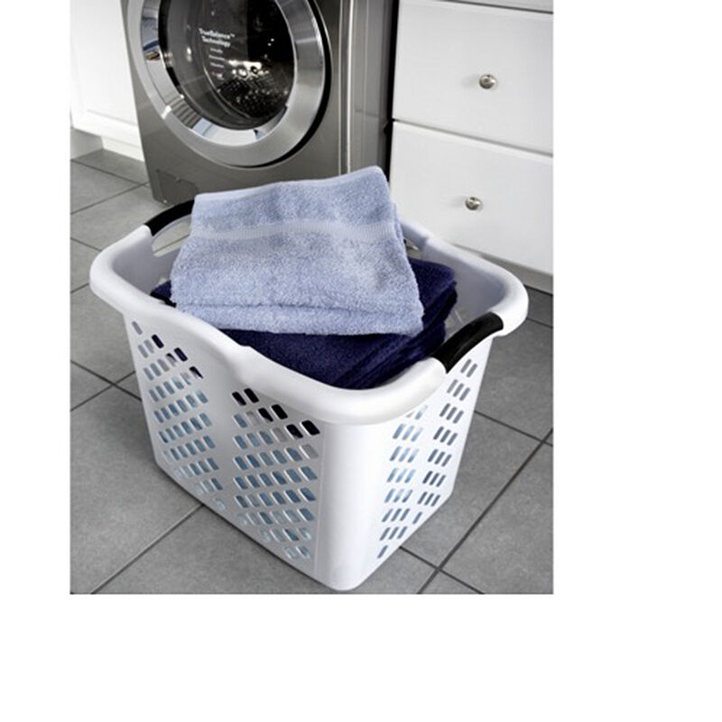 Large 2 Bushel Load Plastic Laundry Basket Clothes Hamper