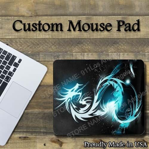 blue dragon custom cool mouse pad 1 8 thick pc mice pad. Black Bedroom Furniture Sets. Home Design Ideas