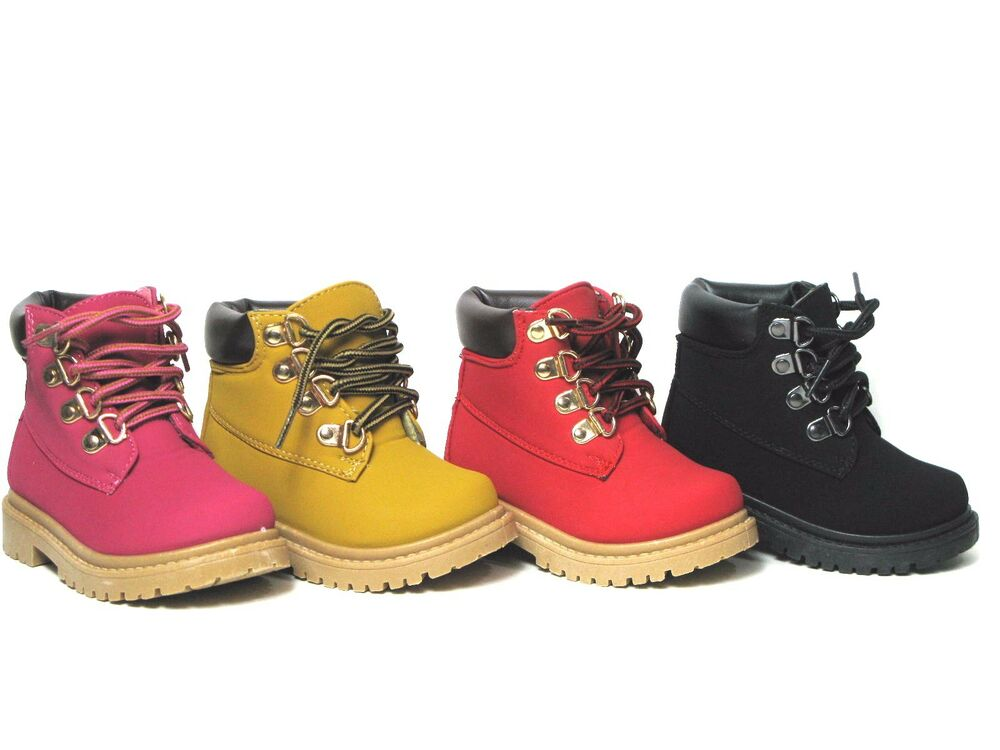 New Baby Toddler Boys Or Girls Lace Up Work Ankle Boots 4 ...