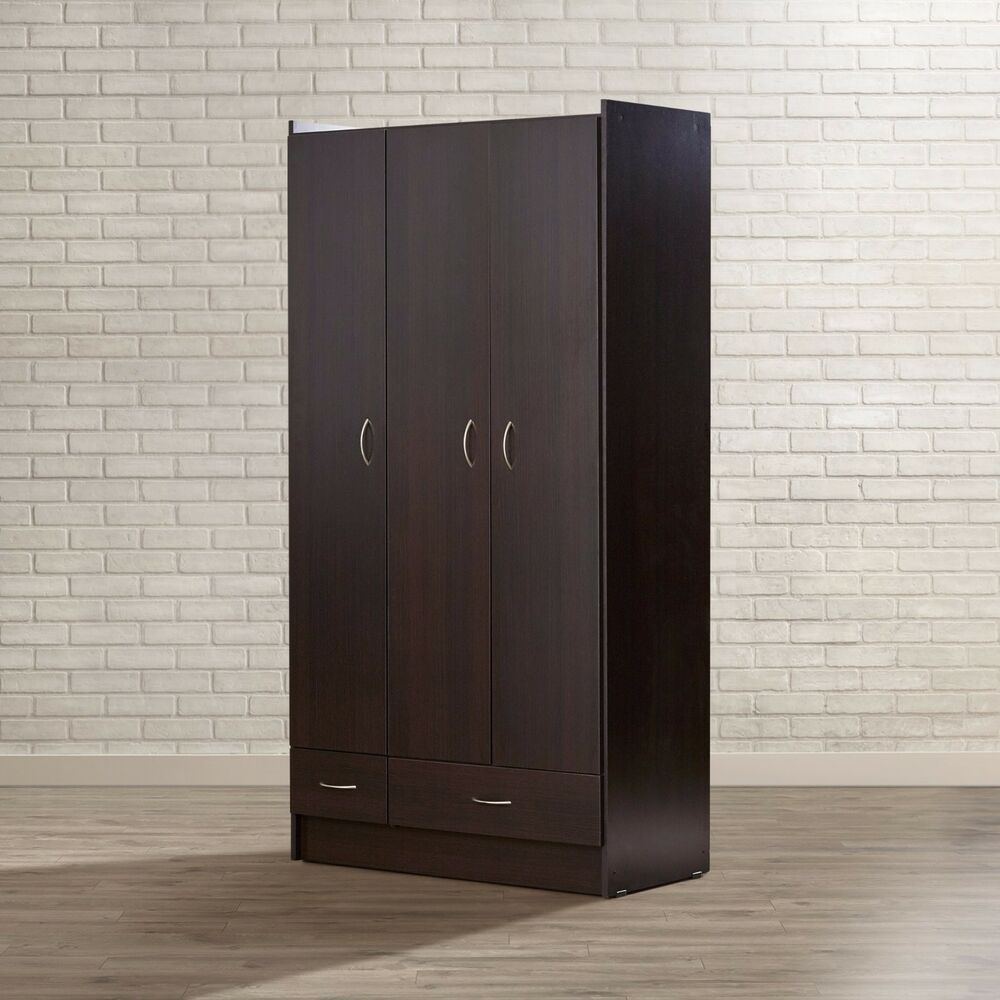 wardrobe armoire storage closet bedroom furniture clothes. Black Bedroom Furniture Sets. Home Design Ideas