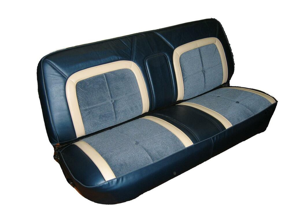 Ford Truck Bench Seat Cover ~ Ford f pickup truck deluxe lariat seat upholstery for