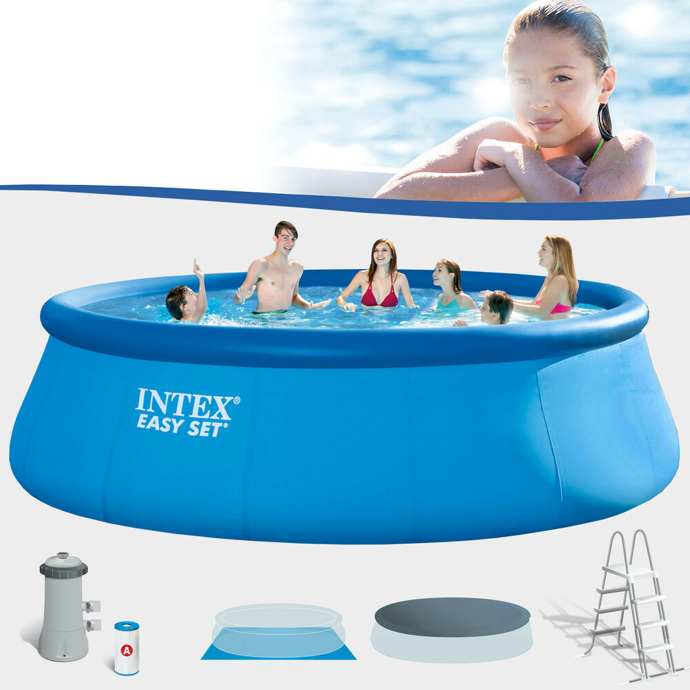 Intex 457x122 komplettset schwimmbecken swimming pool for Pool schwimmbecken