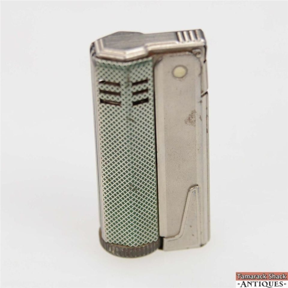 Cigarette Diamond: Vintage IMCO Cigarette Lighter Silver And Green Diamond
