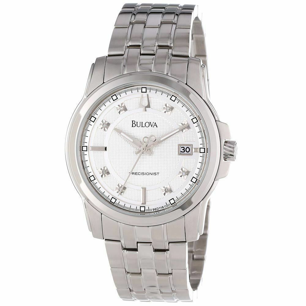 Bulova men 39 s 96d118 precisionist stainless steel watch ebay for Watches on ebay