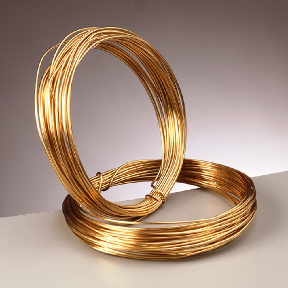 0 8 mm 20 gauge 24k gold plated craft jewellery wire x 6 for 24 gauge craft wire