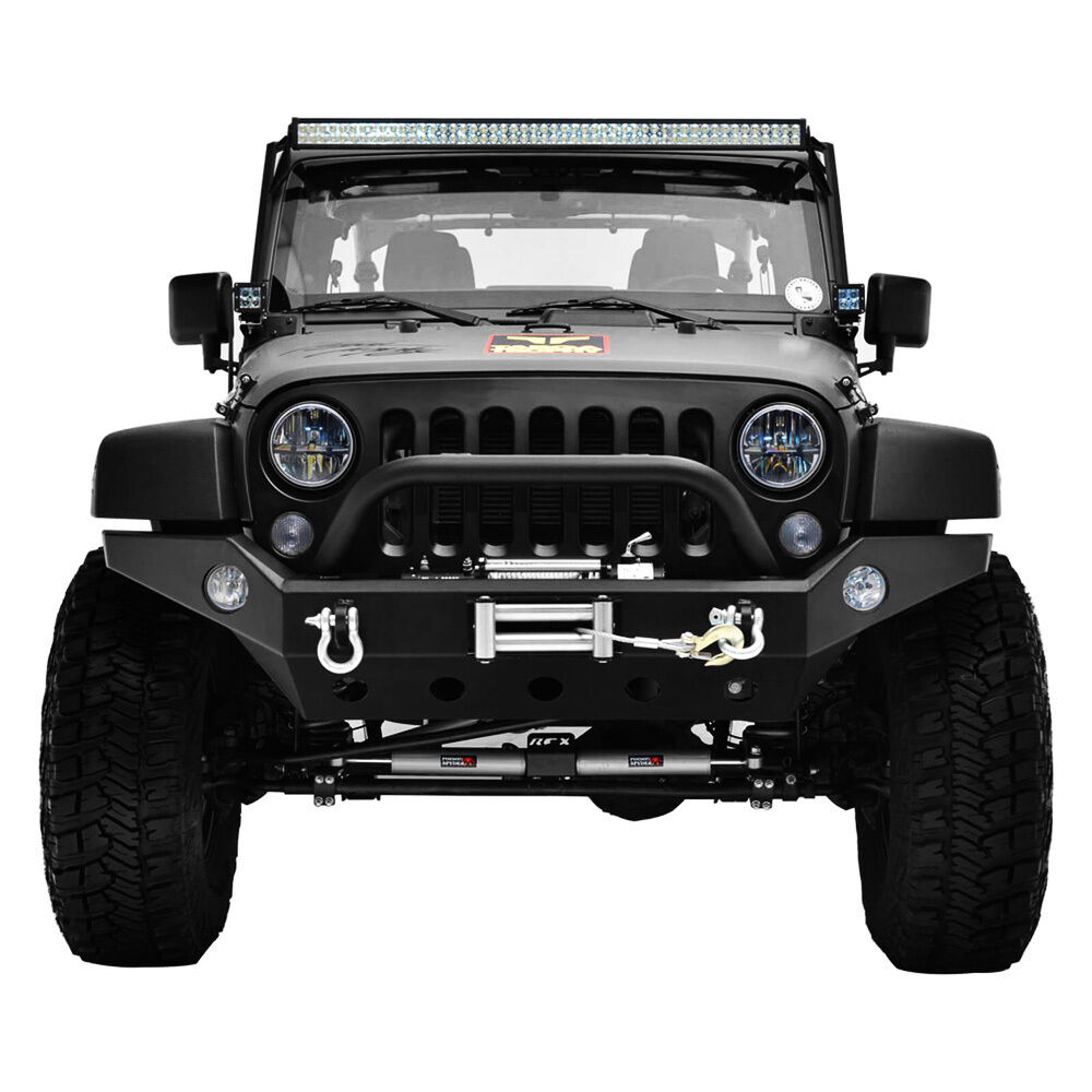 Best Bumper For Jeep Jk : Jeep jk wrangler black textured full width front