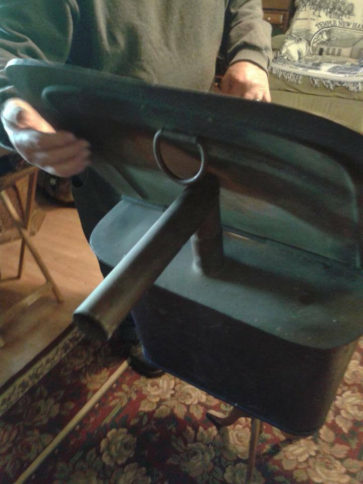 Vintage Antique Copper Square Boiler Wash Tub With Hinged