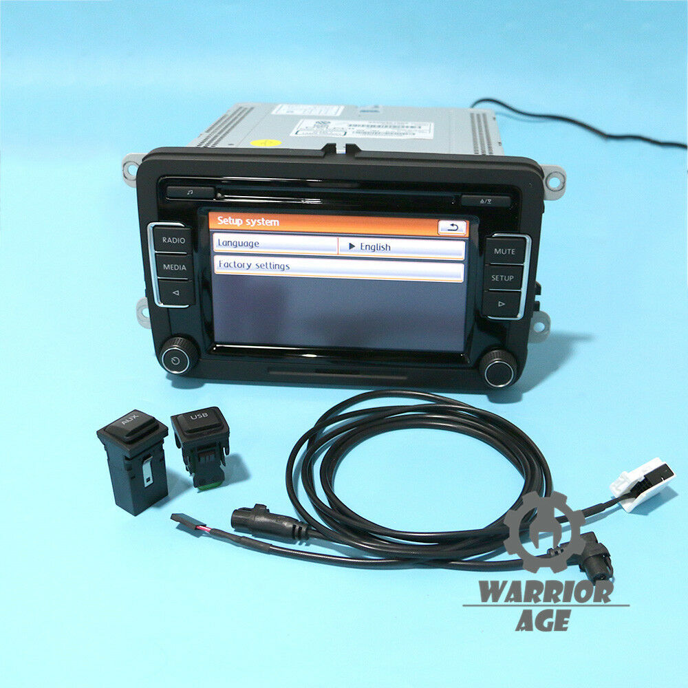 OEM Car Radio Kit RCD510 & AUX USB Plug & Cable For VW