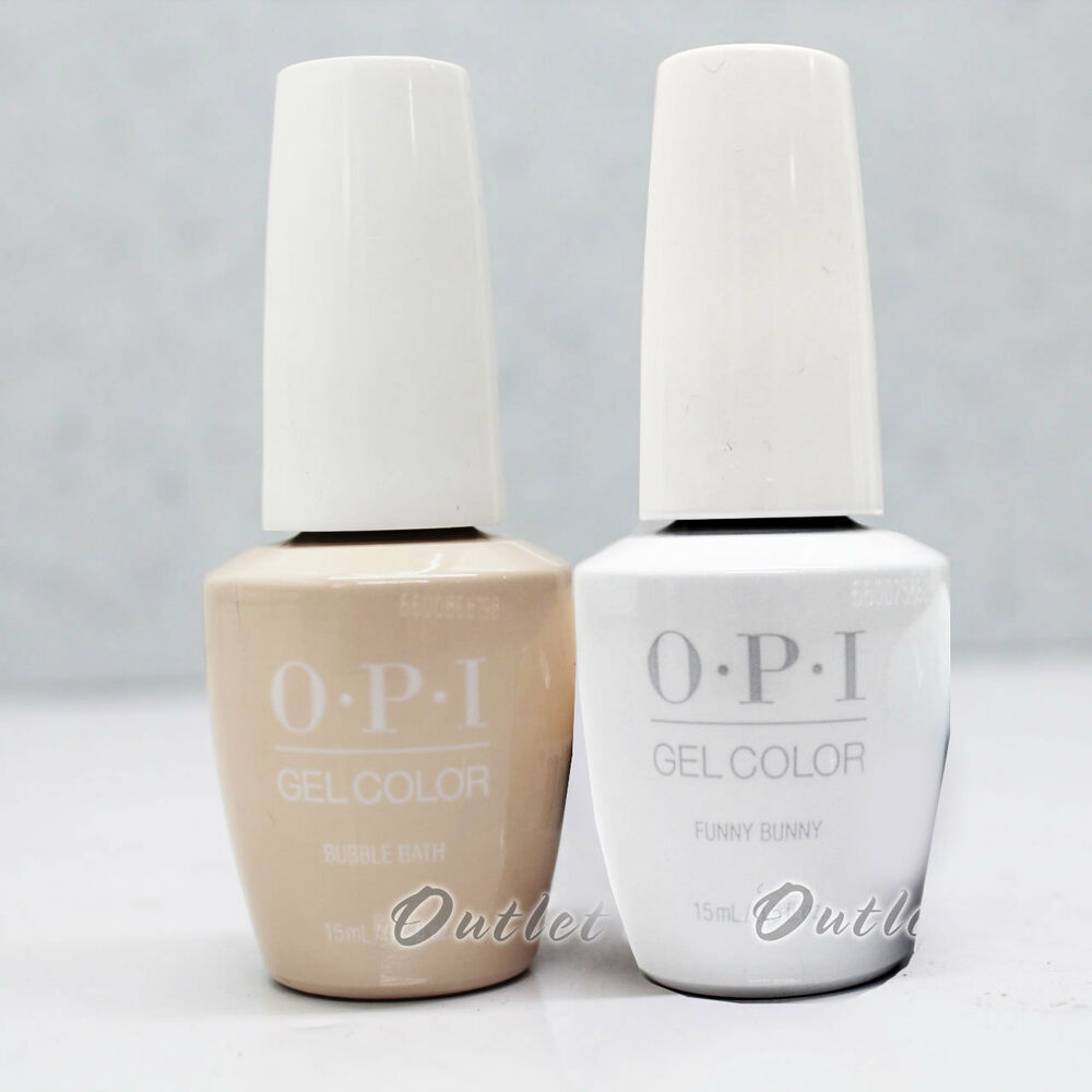 OPI GelColor Gel French Manicure Kit B Set GC H22 Funny Bunny+GC S86 ...