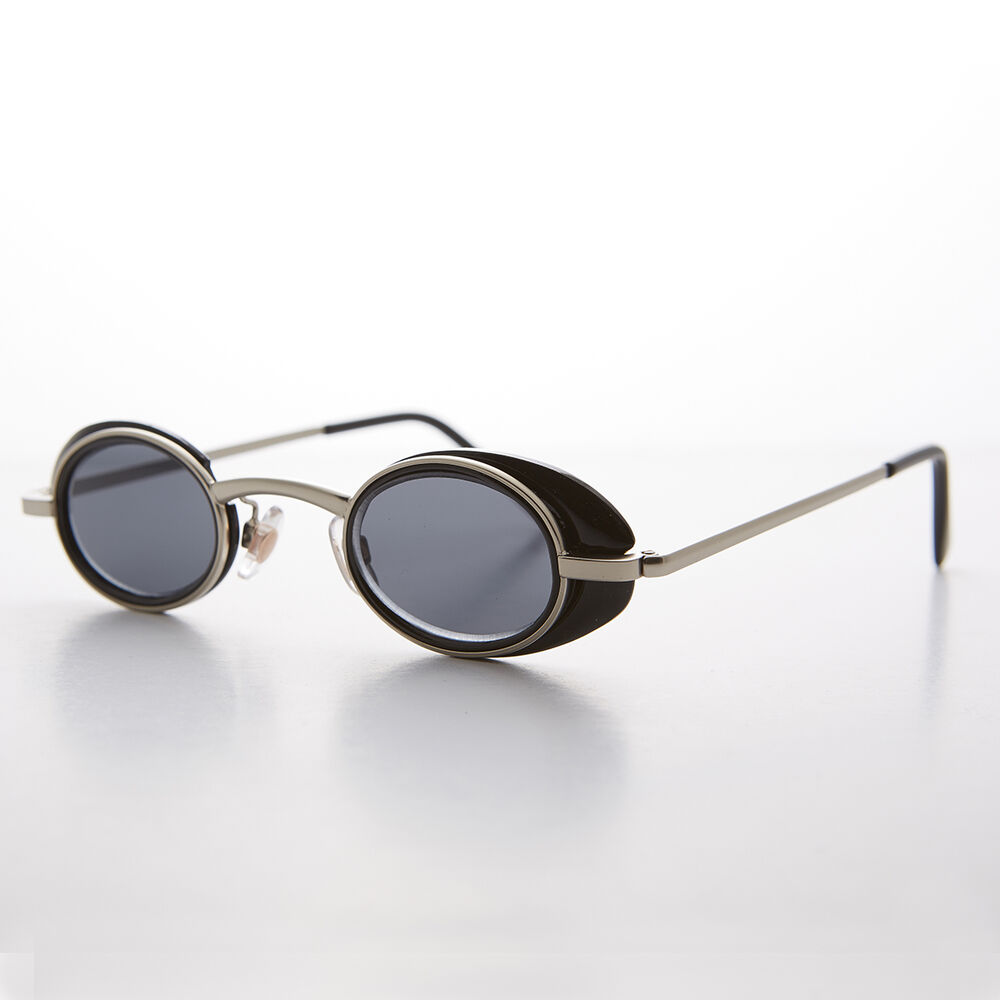 a4f6543949 The gallery for -- gt  Vintage Round Sunglasses Side Shields